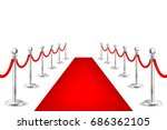 realistic vector red event... | Shutterstock .eps vector #686362105