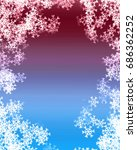 snowflake background | Shutterstock . vector #686362252