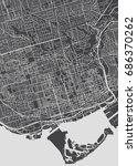 toronto city plan  detailed... | Shutterstock .eps vector #686370262