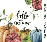 Watercolor Hello Autumn...