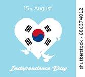 august 15  south korea... | Shutterstock .eps vector #686374012