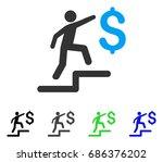 business steps flat vector... | Shutterstock .eps vector #686376202
