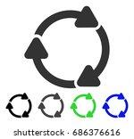 rotate cw flat vector pictogram....   Shutterstock .eps vector #686376616