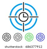 time target flat vector icon.... | Shutterstock .eps vector #686377912