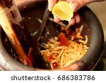 homemade cooking  spicy and... | Shutterstock . vector #686383786