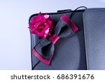 grey color of briefcase with... | Shutterstock . vector #686391676