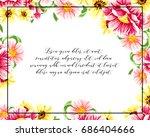 romantic invitation. wedding ... | Shutterstock .eps vector #686404666