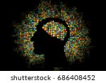 generative human head shape... | Shutterstock .eps vector #686408452