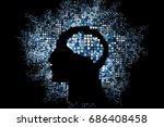 generative human head shape... | Shutterstock .eps vector #686408458