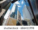 hong kong intersection july 15  ... | Shutterstock . vector #686411998