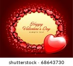 valentine's day card with... | Shutterstock .eps vector #68643730
