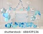 decorations for holiday party.... | Shutterstock . vector #686439136