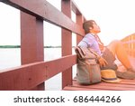summer vacation with sunshine ... | Shutterstock . vector #686444266