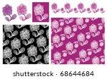 flower are on the white... | Shutterstock .eps vector #68644684