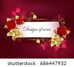 rectangular  long banner with...   Shutterstock .eps vector #686447932