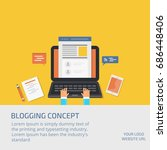 blogging concept  blog... | Shutterstock .eps vector #686448406