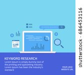 keyword research  search... | Shutterstock .eps vector #686453116