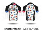 cycle jersey.cycling shirt... | Shutterstock .eps vector #686464906