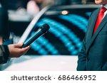 media interview on fair   Shutterstock . vector #686466952