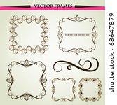 vector ornament frames | Shutterstock .eps vector #68647879