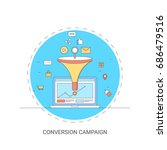 online conversion rate  lead... | Shutterstock .eps vector #686479516