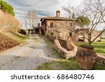 sienna  tuscan   april 01  2017 ... | Shutterstock . vector #686480746