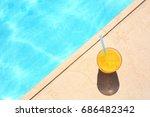tasty refreshing cocktail on... | Shutterstock . vector #686482342