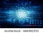 bulb future technology ... | Shutterstock . vector #686482552