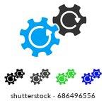 gears rotation flat vector...