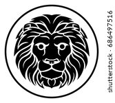 circle leo lion horoscope... | Shutterstock . vector #686497516