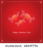 vector valentine background...   Shutterstock .eps vector #68649796