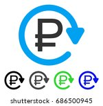 rouble recurring payment flat... | Shutterstock .eps vector #686500945