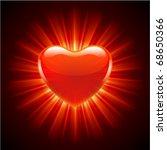 burn heart flame fire valentine'... | Shutterstock .eps vector #68650366