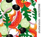 vector illustration. vegetable... | Shutterstock .eps vector #686520988