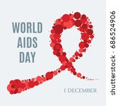 world aids day awareness poster.... | Shutterstock .eps vector #686524906