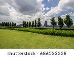 public rooftop outdoor garden | Shutterstock . vector #686533228