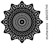 abstract vector black and white ... | Shutterstock .eps vector #686535745