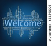 welcome tag cloud in different... | Shutterstock .eps vector #686540005