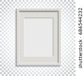 realistic photo frame on... | Shutterstock .eps vector #686544232