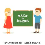back to school vector... | Shutterstock .eps vector #686550646