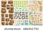 set of landscape elements.... | Shutterstock .eps vector #686561752