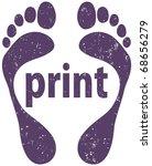 footprint | Shutterstock .eps vector #68656279