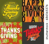 vector thanksgiving decoration... | Shutterstock .eps vector #686565376