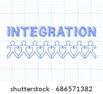 integration text hand drawn... | Shutterstock . vector #686571382