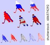 ice hockey team russia    Shutterstock .eps vector #686574292