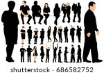 silhouette people  set | Shutterstock .eps vector #686582752