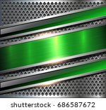 background metallic silver with ... | Shutterstock .eps vector #686587672