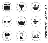 set of 9 editable restaurant...