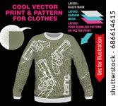 print guns  revolvers. vector... | Shutterstock .eps vector #686614615