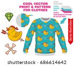 vector sublimation print for... | Shutterstock .eps vector #686614642